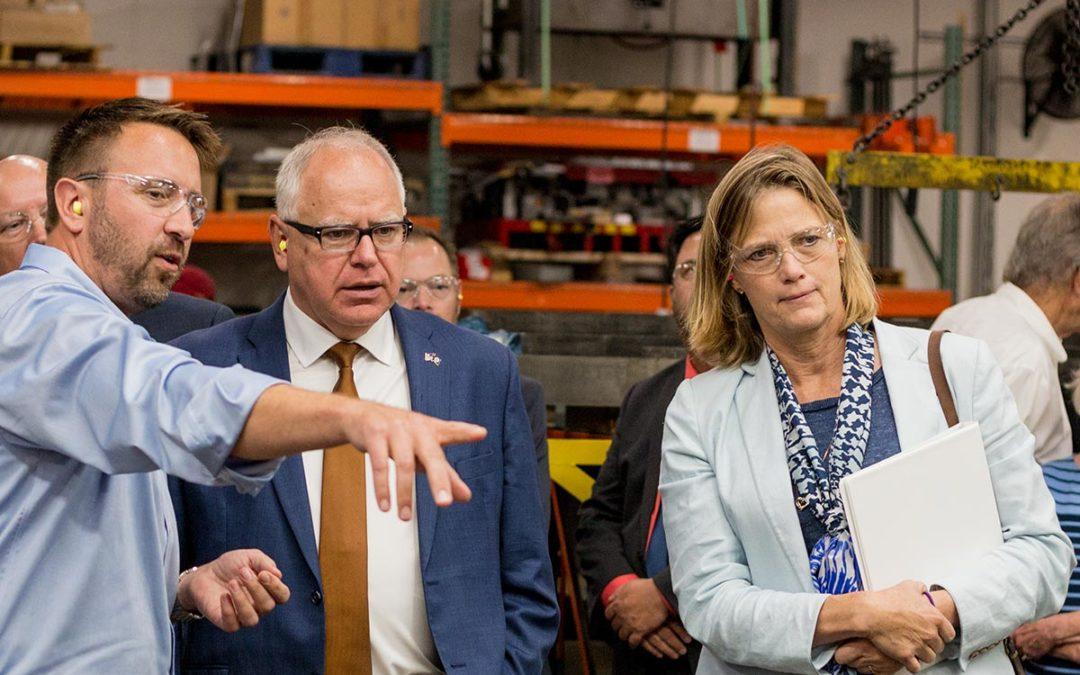 Minnesota Governor Tim Walz Visits Ajax Metal Forming Solutions
